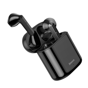 Baseus  ακουστικά TWS Encok W09  mini wireless earphone Bluetooth 5.0  (NGW09-01) μαύρο