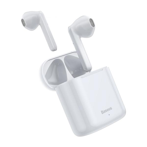 Baseus  ακουστικά TWS Encok W09  mini wireless earphone Bluetooth 5.0 (NGW09-02)  λευκό