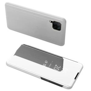 Θήκη Clear View Mirror book για Huawei P40 Lite / Nova 7i / Nova 6 SE ασημί