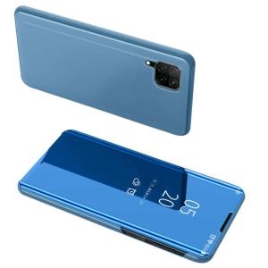 Θήκη Clear View Mirror book για Huawei P40 Lite / Nova 7i / Nova 6 SE μπλε