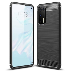 Θήκη Carbon Flexible TPU για Huawei P40 μαύρο