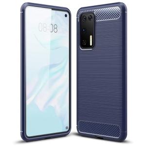 Θήκη Carbon Flexible TPU για Huawei P40 μπλε