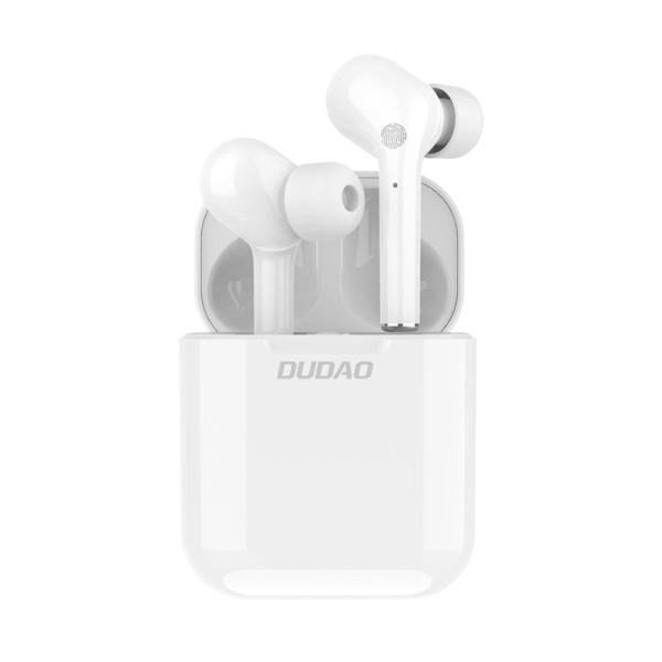 Dudao TWS ασύρματα ακουστικά  mini wireless Bluetooth 5.0  (U12Pro white) λευκό