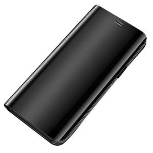 Θήκη Clear View Mirror book για Xiaomi Redmi 10X 4G / Xiaomi Redmi Note 9 μαύρο