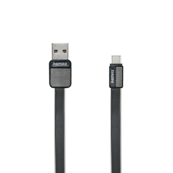 Καλώδιο φόρτισης και μεταφοράς δεδομένων REMAX RC-044i Platinum data cable USB σε Type-C 1m μαύρο