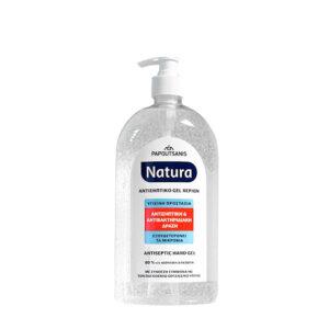 Αντισηπτικό Χεριών Papoutsanis Natura Antiseptic 80% Gel 1000ml με αντλία